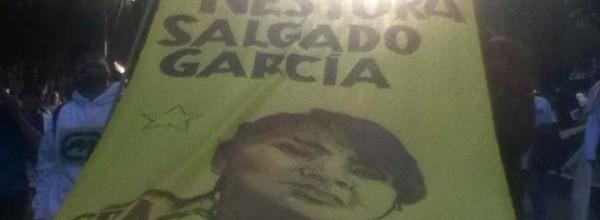 Entrevista con miembros de la CRAC-PC durante la jornada global de acción por Ayotzinapa; 5 de noviembre