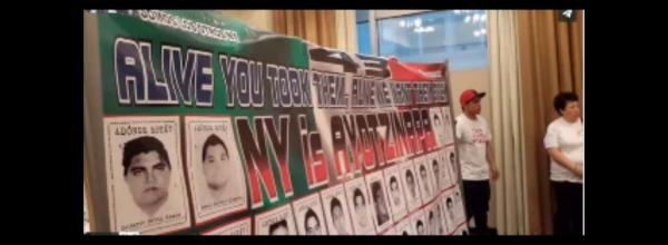 """Video: #Caravana43 interpela a magistrado en foro """"La justicia electoral comprometida con los derechos político-electorales de los pueblos indígenas"""" convocado por la ONU."""