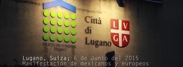 Acción por Ayotzinapa en Lugano, Suiza
