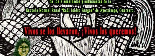 """Recorrido por los pueblos de Oaxaca """"Por la Justicia y la Esperanza"""" de la Caravana de Ayotzinapa, Guerrero"""