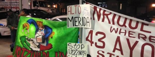 San Diego y Nueva York se manifiestan tras agresión contra Ayotzinapa