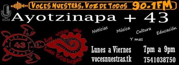 """Escucha """"La voz de las tortugas"""" con testimonios sobre la represión contra Ayotzinapa"""