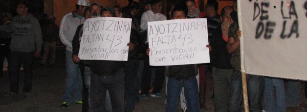 26 ene: XX Acción Global por Ayotzinapa en San Cristóbal de las Casas, Chiapas
