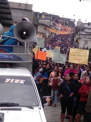 20160208 Marcha el ejido Tila contra ordenes de aprehension