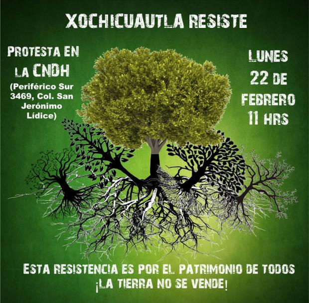 22 feb Planton de Xochicuautla en la CNDH