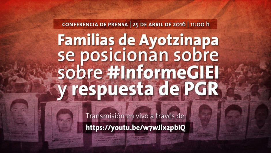 Ayotzinapa contesta a GIEI y PGR