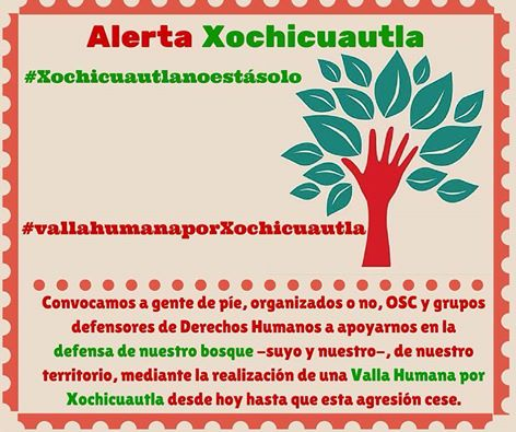 Xochicuautla convoca a valla pacífica humana