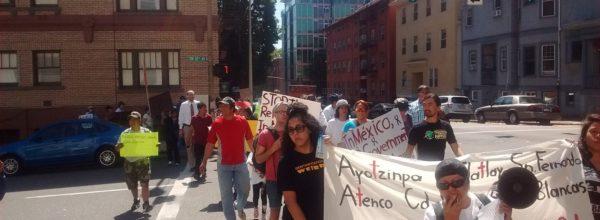 Toma de Consulado Mexicano en Portland, Oregon y Las Vegas,Nevada
