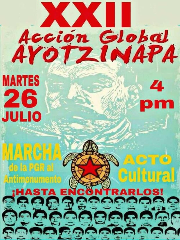 26 de julio Accion global por Ayotzinapa
