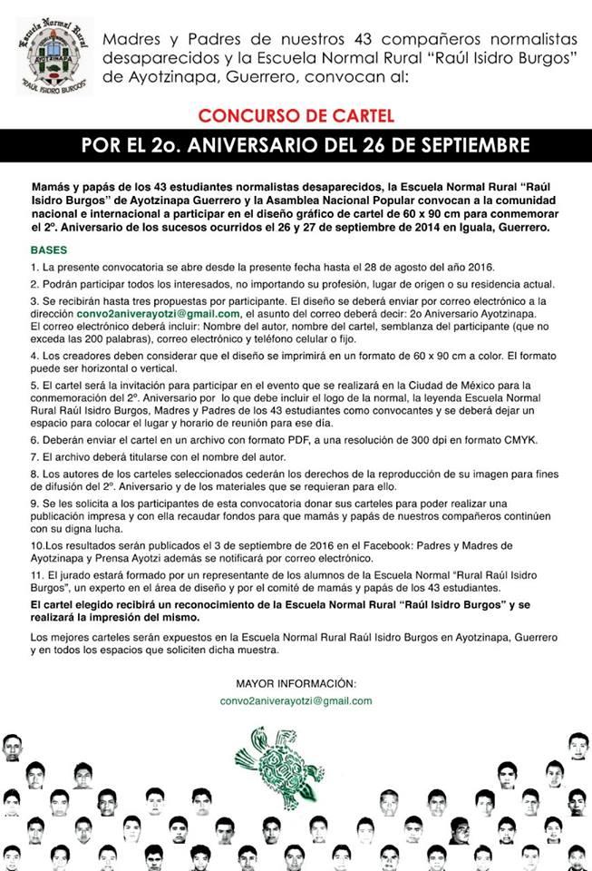 Concurso de cartel Ayotzinapa