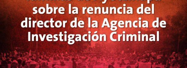 Video: Posicionamiento de Ayotzinapa ante ascenso de Tomás Zerón