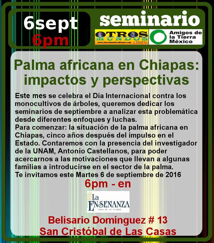 Seminario Palma africana en Chiapas