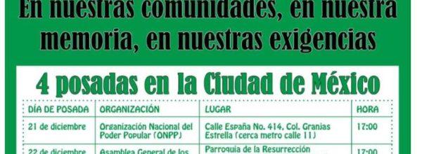 Ayotzinapa, Jornada de lucha por los 43, del 21 al 26 de diciembre