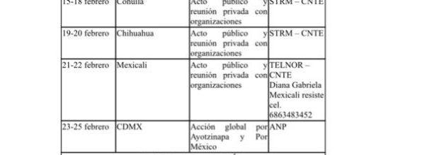 Ayotzinapa, Caravana 2018 por los 43: ¡Vivos los queremos!