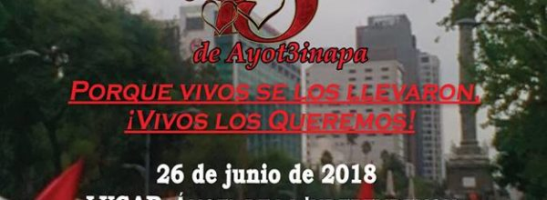 26 jun: Acción Global por Ayotzinapa y México
