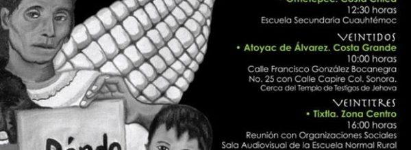 Reuniones regionales y LIV Acción Global por los 43 de Ayotzinapa